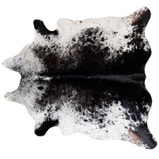 Speckled Cowhide Black Area Rug