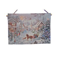 Fibre Optic Sleigh Journey Tapestry