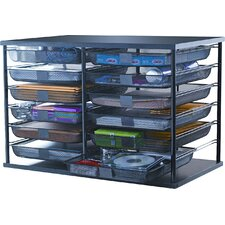 12-Compartment Organizer with Mesh Drawers