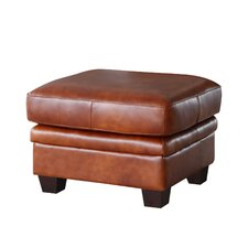 Hillcrest Rectangle Leather Ottoman by Union Rustic
