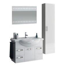 Phinex 35 Single Bathroom Vanity Set with Mirror by ACF Bathroom Vanities