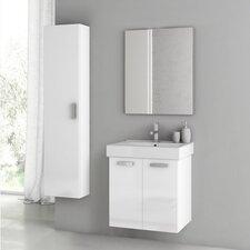 Cubical 2 24 Single Bathroom Vanity Set with Mirror by ACF Bathroom Vanities