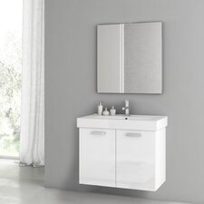Cubical 2 30 Single Bathroom Vanity Set with Mirror by ACF Bathroom Vanities