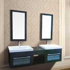 Rome 61.5 Double Mount Vanity with Mirror by Dawn USA