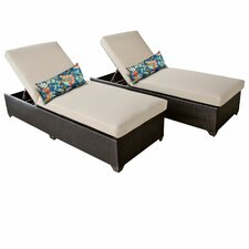 Classic Chaise Lounge with Cushion (Set of 2)