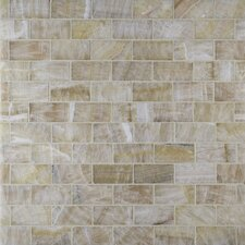 Giallo Crystal Random Sized Onyx Mosaic Tile in Gold