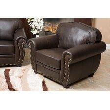 Nassau Italian Leather Club Chair by Astoria Grand