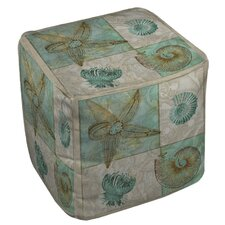 Sea Life 1 Ottoman by Manual Woodworkers & Weavers