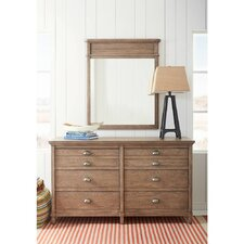 Driftwood Park 6 Drawer Double Dresser with Mirror