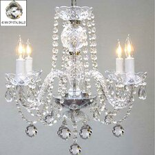 Swarovski 4-Light Crystal Chandelier