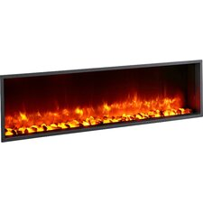 """55"""" Built-in LED Wall Mount Electric Fireplace Insert"""