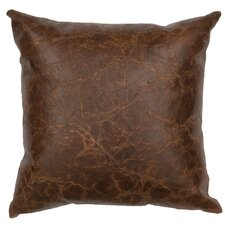 Appalachian Leather Throw Pillow