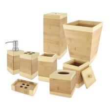 Bamboo 8-Piece Bathroom Accessory Set