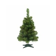 """18"""" Green Pine Artificial Christmas Tree with Unlit Light with Stand"""