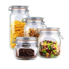 Wayfair Basics 4 Piece Kitchen Canister Set