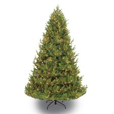7.5' Green Artificial Christmas Tree with 800 Clear Lights with Stand