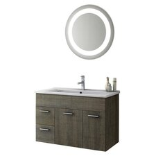 Loren 34 Single Bathroom Vanity Set with Mirror by ACF Bathroom Vanities