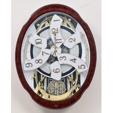 Magic Motion Woodgrain Marvelous Wall Clock