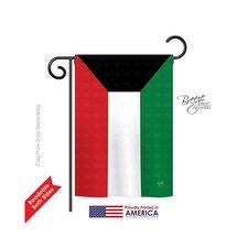 Kuwait 2-Sided Vertical Flag