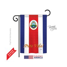 Costa Rica 2-Sided Vertical Flag