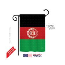 Afghanistan 2-Sided Vertical Flag