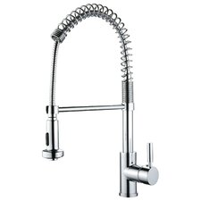 Single Handle Deck Mounted Kitchen Faucet with Pull Out Sprayer