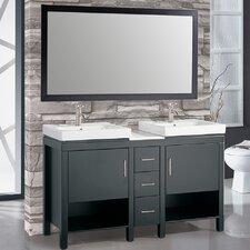 Belarus I 60 Double Sink Bathroom Vanity Set with Mirror by MTD Vanities