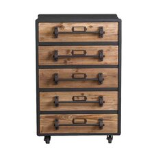 5 Drawer Wooden Chest by Teton Home