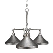 Kash 3-Light Cone Metal Shaded Chandelier