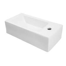 "Classically Redefined 20"" Wall Mounted Bathroom Sink with Overflow"