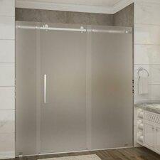 Moselle 72 x 77.5 Single Sliding Frameless Shower Door by Aston