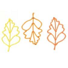 Acrylic Oak Leaves Wall Décor (Set of 3)