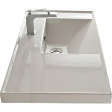 """ML 36"""" Wall Mounted Bathroom Sink with Overflow"""