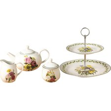 Spring Posy 4 Piece Porcelain Tea Set
