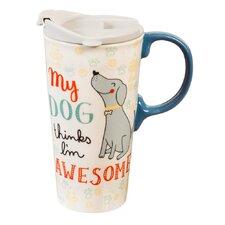 Stacy My Dog 17 oz. Ceramic Travel Cup