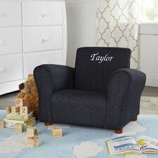 Blue Denim Personalized Kids Club Chair