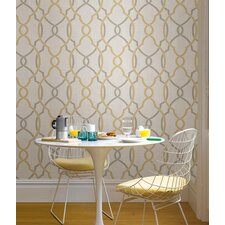 Sausalito 5.5m L x 52cm W Geometric Roll Wallpaper