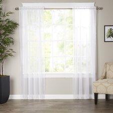 Wayfair Basics Solid Sheer Curtain Panels (Set of 2)