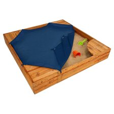 Backyard 5' Square Sandbox with Cover