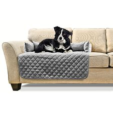 Buddy Quilted Fabric Sofa Slipcover