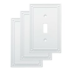 Classic Beaded Single Switch Wall Plate (Set of 3)