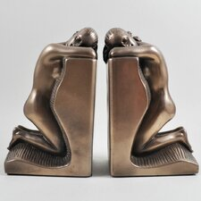 Solitude Ladies Cold Cast Bookends (Set of 2)