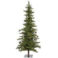 Shawnee Fir 6' Green Alpine Artificial Christmas Tree with 250 Multicolored Lights with Stand