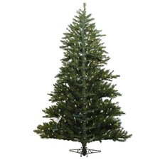 Minnesota 7' Green Pine Artificial Christmas Tree with 300 Dura-Lit Clear Lights with Stand