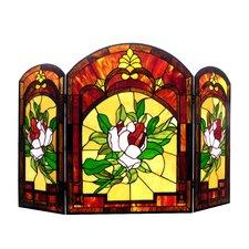 Iggy 3 Panel Glass Fireplace Screen