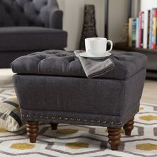 Baxton Studio Sara Upholstered Ottoman by Wholesale Interiors