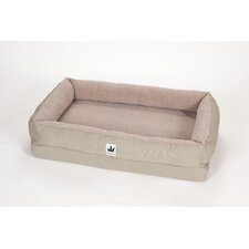 EZ Wash Fleece Lounger Dog Bed with Memory Foam