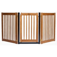 "Amish Handcrafted 32"" 3 Panel Walk-Through Free Standing Gate"