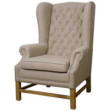 Graham Fabric Wing back chair by New Pacific Direct