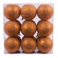 Xmas Glitter Shatterproof Ball Ornament (Set of 18)